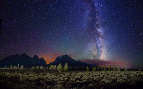 山上的夜空