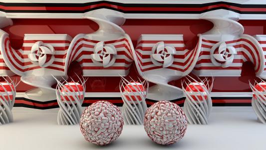 红色和白色的球迷和球