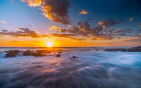 惊人的日落