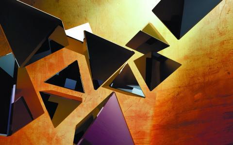 浮动的三角形