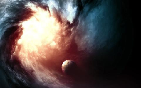 发光的黑洞