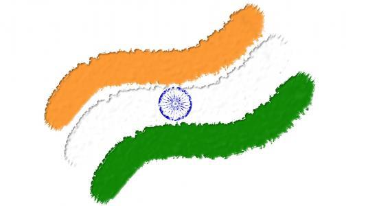 Grunge印度国旗