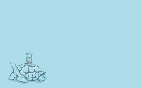 龟背着一个沙漏